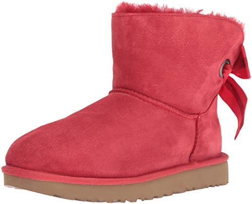 UGG Australia Damen Customizable Bailey Bow Mini Suede Ribbon Red Stiefel 37 EU