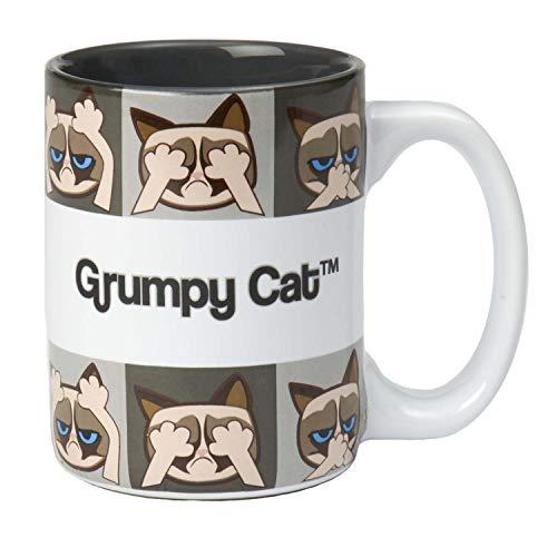 PetRageous Grumpy Cat Designs Grumpy Cat Mug, Gray 18oz