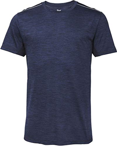 Crivit® Herren Fitness-Shirt Sportshirt Funktionsshirt, Kurzarm +++ Plus Size +++ (Gr. XL - 56/58, Navy meliert)