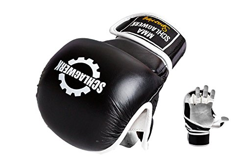 SCHLAGWERK Faustschützer MMA Sparring/Training/Free Fight/aus Kunstleder Größe : (L/XL)