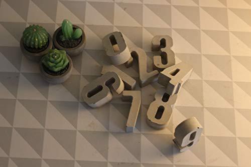 Beton Zahlen S   0-9   Advent   Tischdeko   Geburtstag   Tischnummer