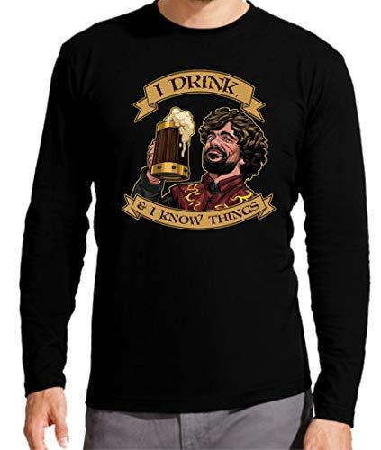 Camiseta Manga Larga de Hombre Juego de Tronos Tyrion Snow Dragon Daenerys Stark 077 M