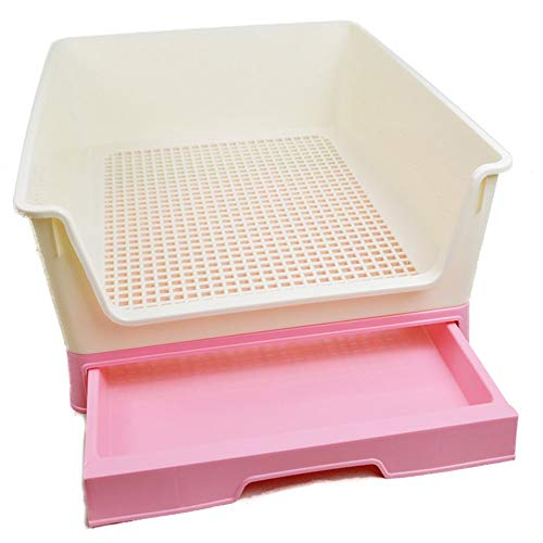 Dog Toilet,Indoor Dog Potty Tray – with Protection Wall Every Side for No Leak, Spill, Accident - Keep Paws Dry and Floors Clean,Pink