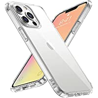 Tempered Glass Back Shockproof Crystal Clear Case for iPhone 13 Pro Max