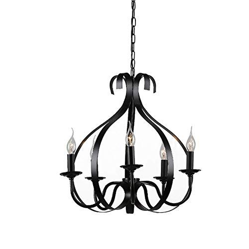 Hanglamp E27 hanglamp Vintage Industrial hanger licht metalen frame kaars 6-pits plafond verlichting bloemenlichaam kandelaar design lamp eetkamer café bar loft balkon retro vloerlamp