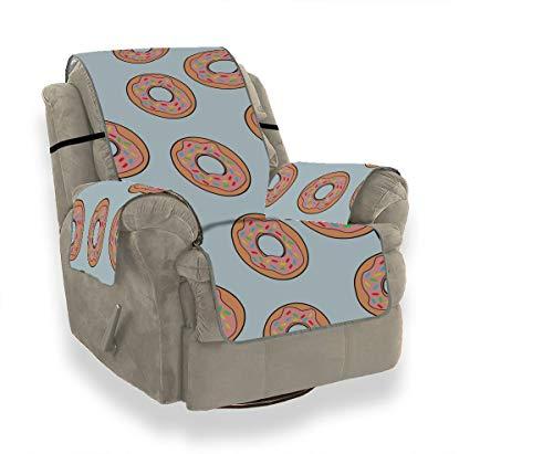 Rtosd Donut Colorful Girl Sweet Indoor Lounge Chair Slipcover Elstic Sofa Cover Slipcover Wing Chair Protector de Muebles para Mascotas Niños Gatos Sofá