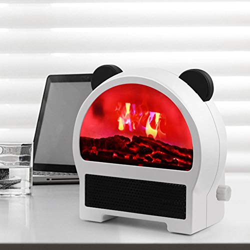 niyin204 Portable Electric Heater 500 W/1000 W Mini 3 Speed Adjustable Flame Heater 3D Personal Space Radiators for Home, Office, Bedroom