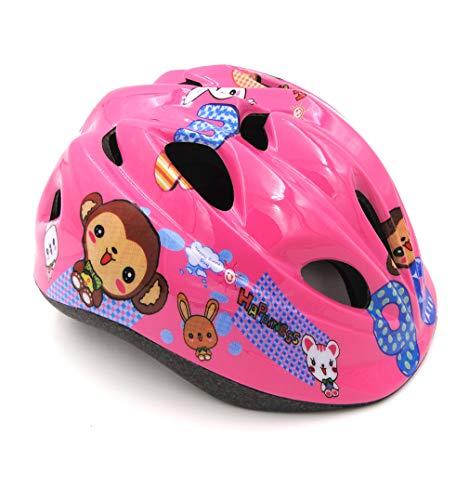 LHY SPORTS SERLES Jungenund dchen Kinder Sicherer Fahrradhelm, Jugend Mountain Inliner Skateboard Schutzhelm Rollschuhlaufen Farbiger Helm,Schutzhelm für Männer und Frauen,Pinkmonkey