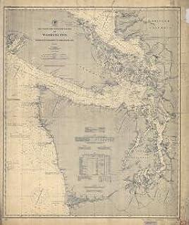 Historical Nautical Chart 376-11-1912 VA Delaware and Chesapeake Bays Year 1912