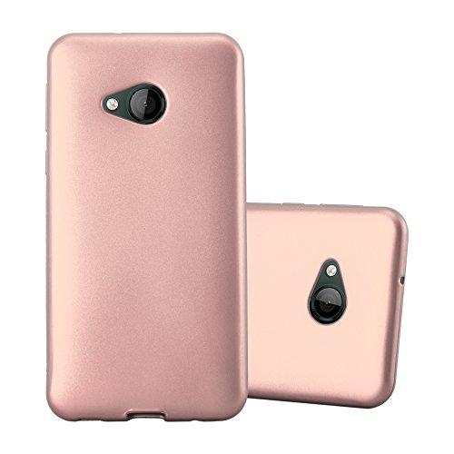 Cadorabo Hülle für HTC U Play in METALLIC ROSÉ Gold - Handyhülle aus flexiblem TPU Silikon - Silikonhülle Schutzhülle Ultra Slim Soft Back Cover Hülle Bumper
