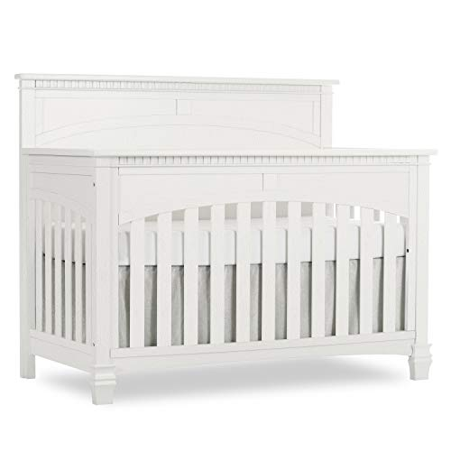 Find Discount Evolur Santa Fe 5 in 1 Convertible Crib, Brush White
