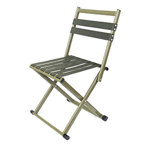Chaises pliantes Jardin et Patio Tabouret de pêche pliant tabouret chaise de loisirs en plein air pêche épaisse chaise tabouret pliant chaise de camping portable ( Color : Green , Size : 36*31*32cm )