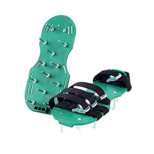 JMBF Zapatos de Aireador de Césped Aireador de Césped Zapatos de Escarificador de Césped con 4 Correas Ajustables y Tamaño Universal de Metal Adecuado para Zapatos o Botas