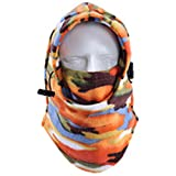 XINGZHE Balaclava - Windproof Ski Mask - Cold Weather Face Motorcycle Mask - Ultimate Thermal Retention & Moisture Wicking w/Performance Soft Fleece Construction (Orange Camo)