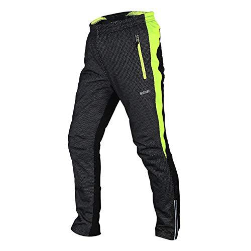 AJSJ Men's Winter Cycling Pants Warm Up Thermal Fleece Trousers Outdoor Sports MTB Bike Bicycle Pant Windproof Waterproof 14A,Green,XXL