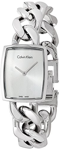 CK Damen-Armbanduhr XS Analog Quarz Edelstahl K5D2S126