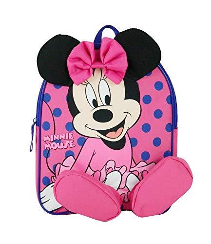 Disney Bagtrotter Sac A Dos Goûter Maternelle Minnie 31cm Rose
