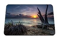 22cmx18cm マウスパッド (海のビーチ流木砂) パターンカスタムの マウスパッド