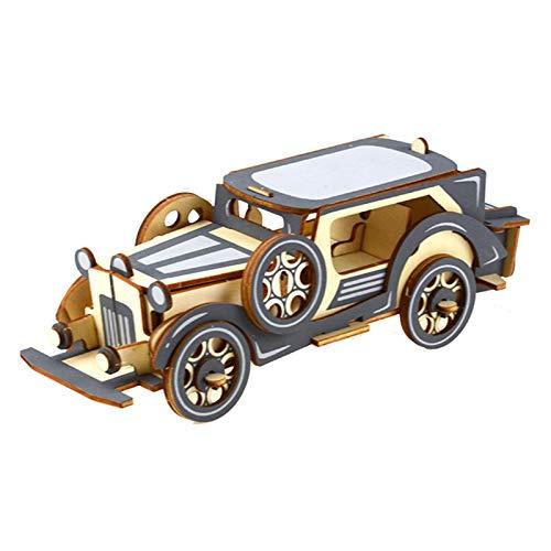 LKH 3D Puzzle Puzzles 3D, DIY Tridimensional para Niños Hecho A Mano Creativo Bloque De Construcción Puzzles Educativo Juguete Niño Modelo De Simulación De Coche(Color:25×9×8.5cm)
