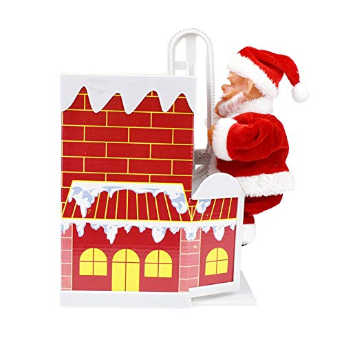 Allsunny Kinder Spielzeug Weihnachten Weihnachtsmann Schornstein Musik Puppe DIY Montage Elektronische Geschenk