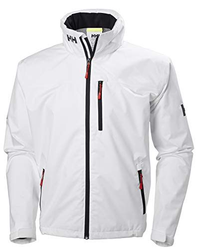 Helly Hansen Crew Hooded Jacket Veste de pont Homme, Blanc, XL
