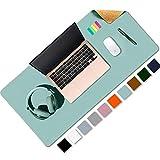 Aothia Schreibtischunterlage,umweltfreundliche Naturkork &PU-Leder doppelseitige 80x40cm Mauspad, wasserdicht PU-Leder Tischunterlage Schreibtischschutz für Büro/Heimspiele(Hellblau)