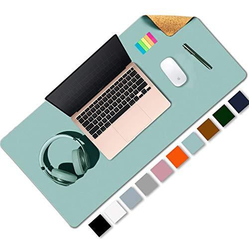 Almohadilla de escritorio de oficina de doble cara de corcho y cuero ecológico,alfombrilla de ratón,protector de escritorio para oficina/juegos en el hogar 80 * 40cm(CE)