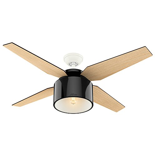 "Hunter Cranbrook Indoor Ceiling Fan with LED Light and Remote Control, 52"", Bronze/Dark"