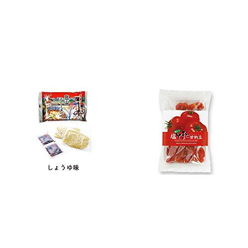 [2点セット] 飛騨高山ラーメン[生麺・スープ付 (しょうゆ味)]・朝どり 塩とまと甘納豆(150g)