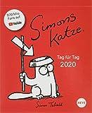 Simons Katze Tagesabreißkalender. Tischkalender 2020. Tageskalendarium. Blockkalender. Format 11 x 14 cm - Heye