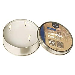 Stansport 18-Hour Survival Candle, 3 Wicks