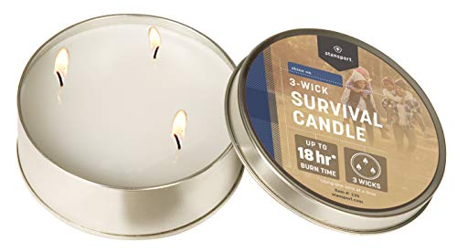 Stansport 18-Hour Survival Candle, 3 Wicks 3