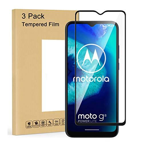LJSM Panzerglas für Motorola Moto G8 Power Lite [3 Stück] Schutzfolie Schutzglas Glas Folie Bildschirmschutzfolie Hartglas Gehärtetem Film Bildschirmschutz für Motorola Moto G8 Power Lite (6.5