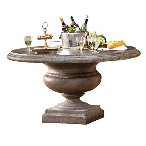 Loberon Tisch Monterey, Steingemisch, H/Ø ca. 78/140 cm, grau