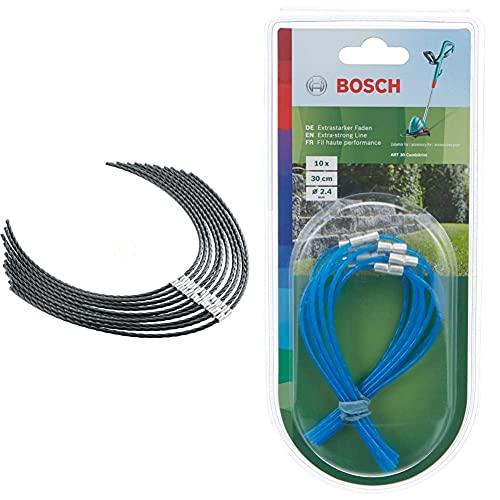 Bosch Home and Garden F016800431 Hilo Cortabordes Para Afs 23-37 + F016800182 Hilo Para Art30 Combitrim, Azul, 30Cm