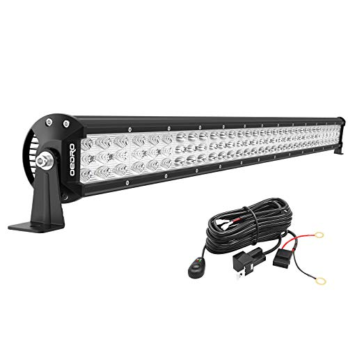 oEdRo LED Light Bar Tri-Row 32 Inch 600W 66120LM Work Light Spot Flood Combo Beam with w/Wiring Harness Off-Road Light LED Driving Lights Boat Lighting Fit for UTV ATV Jeep Truck SUV