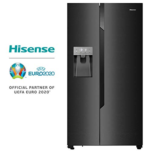 Hisense RS694N4TF2 nevera puerta lado a lado Independiente Negro 535 L A++ - Frigorífico side-by-side (Independiente, Negro, Puerta americana, LED, Tocar, LED)