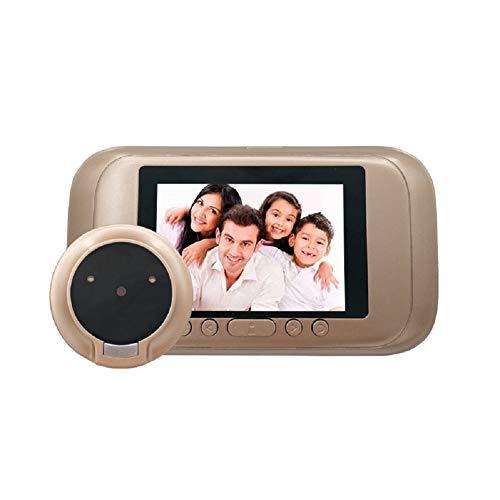 Smart Home Video Timbre De La Puerta HD, Ojo De Gato Visible, Grabación De Video De La Cámara, Monitoreo De La Seguridad En El Hogar, Fácil Instalación