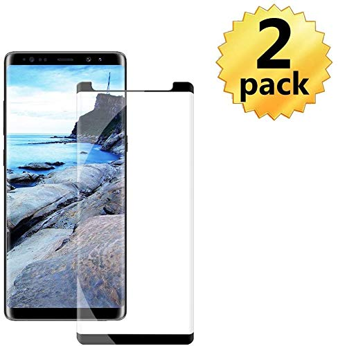 Note 8 Screen Protector Compatible with Samsung Galaxy Note 8 Curved Edge Case Friendly Anti-Scratch Bubble-Free Clear Glass Screen Protector 2-Pack