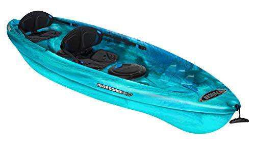 Pelican Tandem Recreationnal Kayak | River Gorge 130X Tandem, 13 Feet