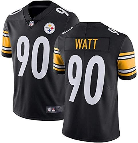 XYY T.j.Watt Jerseys, Steelers # 90 American Football Jersey, versión Bordada, Camiseta 2021 Tribute Edition Edition Jersey (Color : B1, Size : L)