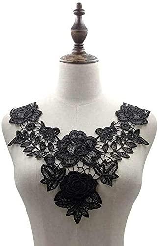 Aeromdale Bordado escote encaje cuello floral apliques costura en parches para bricolaje...