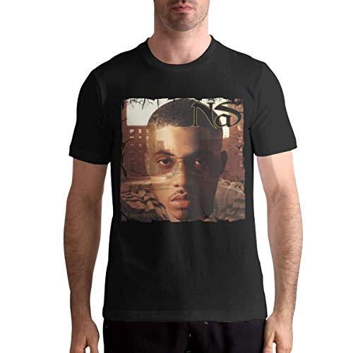 NAS It was Written Men Classic Leisure Round Neck Short Sleeve T-Shirt,4XL