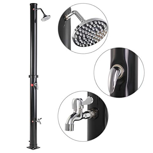 Why Choose JAXPETY Solar Heated Shower w/Shower Head and Foot Shower 5.3 Gallon Dual-Purpose Outdoor...