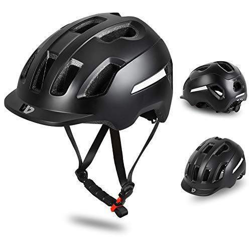 ICOCOPRO Urban Fahrradhelm für Erwachsene Herren Damen Kinder, Leichter Verstellbarer Atmungsaktiv Radhelm Mountainbike Helm mit Reflektierendem Streifen Und Abnehmbarem Liner - für Rennrad, Scooter