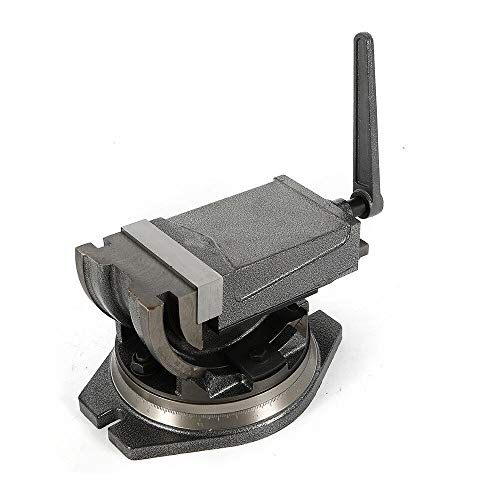 Buy Bargain 5 Precision Milling Vise Tilting Clamp Vise Swivel Base Angle Tilting 2 Way Cross Drill...