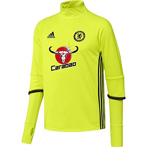 adidas Herren FC Chelsea Trainingtop, Solar Yellow/Black/Granite, S