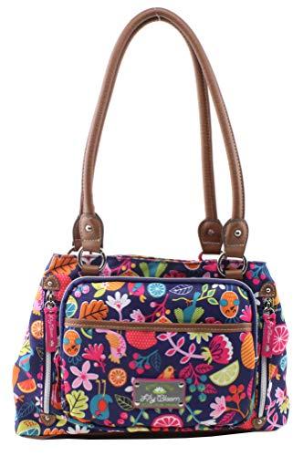 Lily Bloom Maggie Satchel Handbag, Fruit Loops