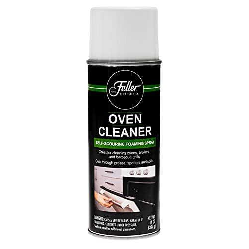 Fuller Brush Self-Scouring Oven Cleaner - Spray On Heavy Duty Cleaner for Ovens Broilers and Barbecue Grills Efficiently Cuts Through Grease Grime Spills and Splatters with Minimal Scrubbing