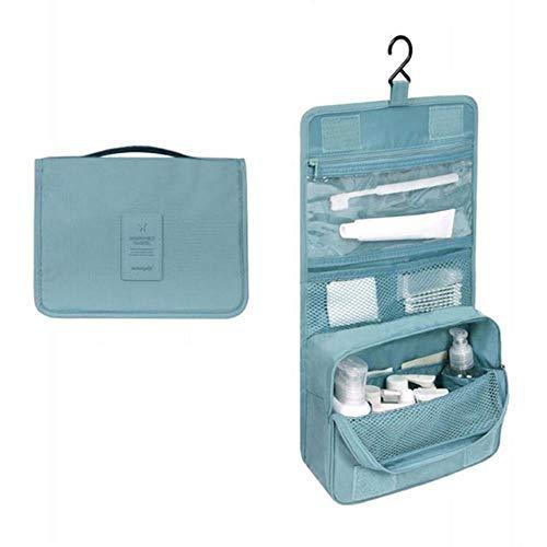 Linwei Travel Cosmetic Bag Women Makeup Bags Toiletries Organizer Waterproof Storage Neceser Hanging Wash Bag,Blue